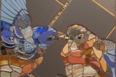 MEIE-näituse-ja-tellimustööd_Lovebirds-45-x-45-cm-glasuuriproovide-tükid-keraamiline-plaat-millefiori-klaashelmed-kruusid-ja-tassid-2018