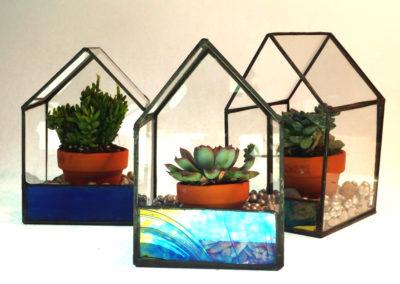 3 venda, klaasmaja 8x8x12 cm