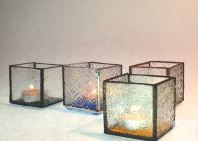 Antiikklaasist küünlatops 6x6x6 cm